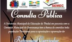 Consulta pública do Referencial Curricular